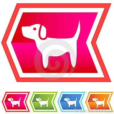 Neon Chevron Icon Set: Dog