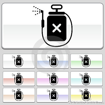 Square web buttons - Spray