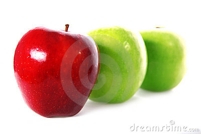 Three fresh apple
