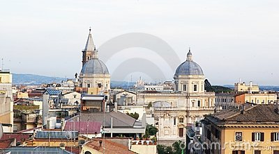 Rome roof view