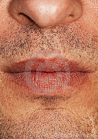 Part of man's face