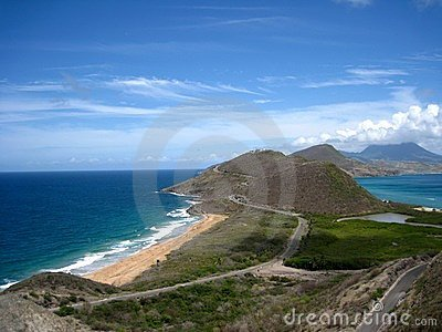St. Kitts Atlantic and Caribbean oceans