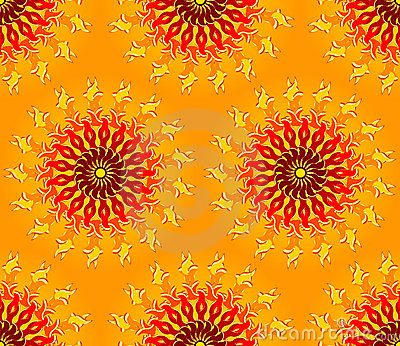 Seamless Sun Pattern