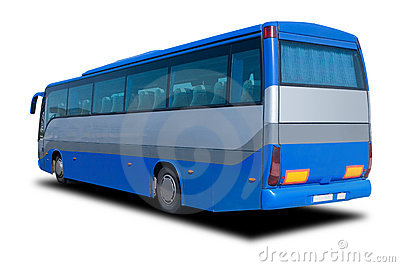 Blue Tour Bus