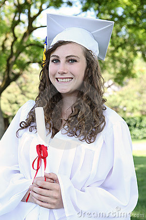 Pretty Young Woman at Graduation