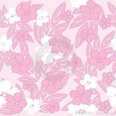 Pink seamless flowers