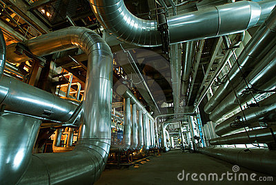 Interior of water treatment plant