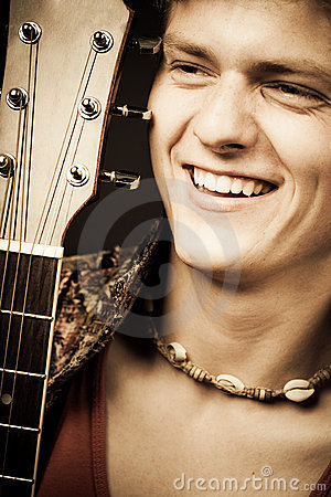Laughing guitarist