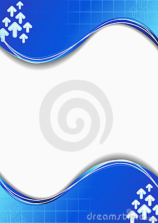 Blue card vector