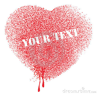 Spatter heart vector