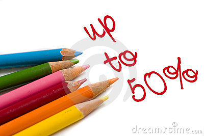 Color pencil with 50% off special deal