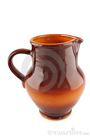 Red clay pitcher
