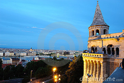 Night view from the Fisherman's Bastion