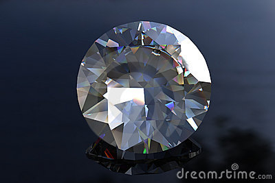 Large Round Euro Cut  Diamond Gemstone
