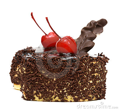 Chocolate cakes with cherry