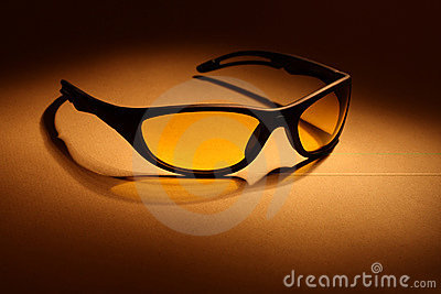 Sunglasses with yellow lens