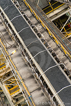 Coal on conveyors