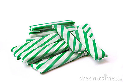 Chewing gum sticks isolated