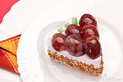 Fancy cake with grapes