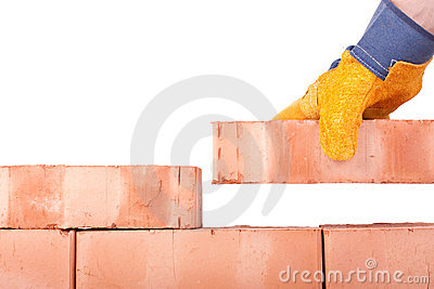 Building brick wall