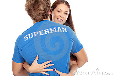 Hugging a superman