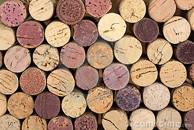 Stacked corks
