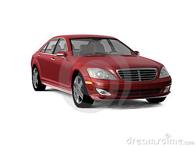 Dark red business class car