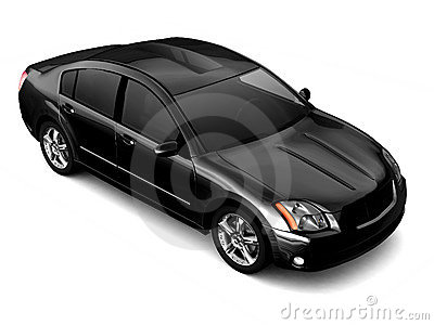 Premium class black car illustration