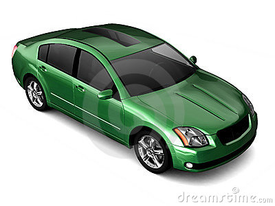 Premium class green car illustration