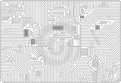 Hi-tech industrial electronic vector background