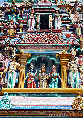 Hindu statues and carvings