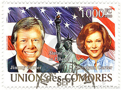 Stamp with  Jimmy Carter