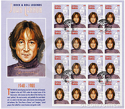 Stamp with John Lennon