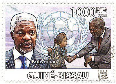 Stamp with Kofi Annan