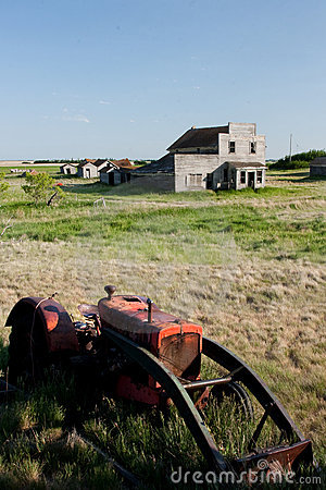 Old Tractor in Ghost Town