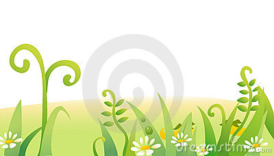 Grass and flower