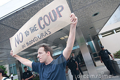 Protest Against Honduras Coup
