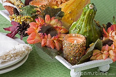 Floral Fall Harvest Centerpiece