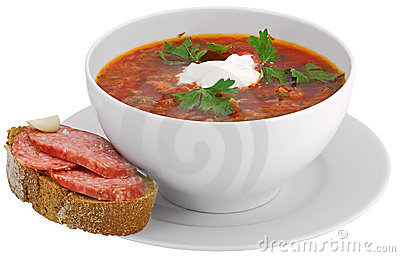 Isolated on white  borscht