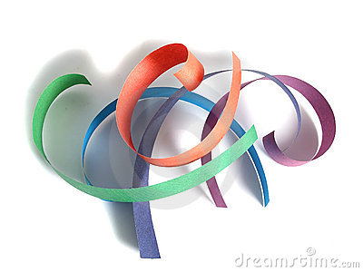 Colored paper ribbon