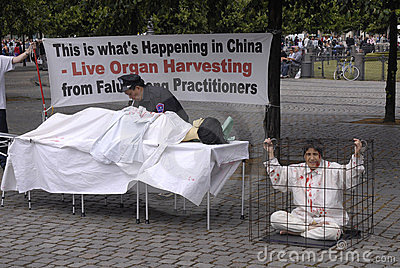 DENMARK_FALUN GONG PROTEST AGAINST CHINA