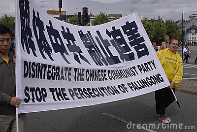 DENMARK FALUN GONG PROTEST AGAINST CHINA