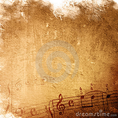 Abstract grunge melody music