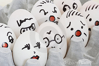 Face Painted Eggs