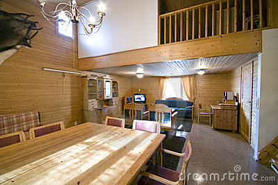 Interior of luxury cabin