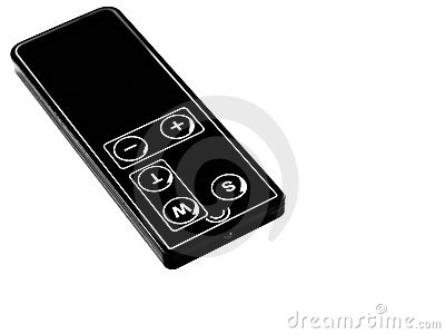 Remote control for digital camera