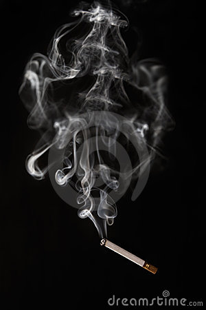 Burning cigarette falling off with sokw arraound