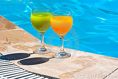 Two glasses with juice