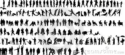 People silhouette 1 (+ )