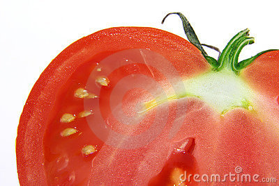 Cut-through tomato